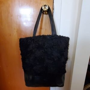 Black leather DKNY tote